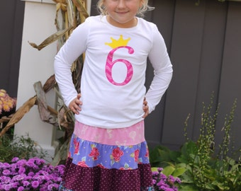 Birthday Age Shirt with a Crown