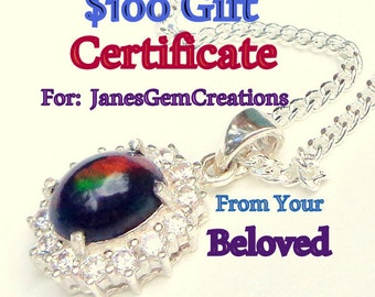 GIFT CERTIFICATE, Personalized, Magical, Colorful  Rare Gems,Hand Crafted,Fine Jewelry,Jewellry,Gifts for Her, Him, You, Earrings,Rings