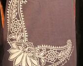 Brown Henna baby tee MOD  Small, Medium, Large shirt by Bella organic cotton