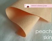 Wool Felt 1 yard cut - Peach Skin - light peach wool blend felt