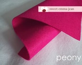 Wool Felt 1 yard cut - Peony - deep pink wool blend felt