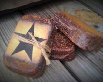 Melting Loaves - Wax Melts - Tarts - Highly Scented - Primitive Star Label - (3) for 11.99 - Same Scent