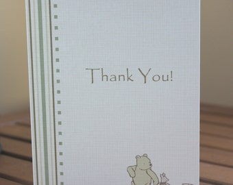 Classic Pooh Baby Shower Thank You Note Card
