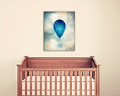 Nursery decor canvas art toddler room balloon art blue nursery art large wall art canvas print Gallery canvas celestial nursery wall decor
