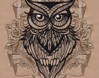 Owl You Need Embroidered Cotton Hand Kitchen Dish Towel