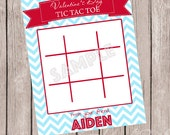 PERSONALIZED Tic Tac Toe Valentines Treat Cards - Digital/Printable - DIY