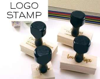 Small or Medium CUSTOM LOGO or TEXT Wood Stamp | custom image or text stamp | Wood Stamp for business, wedding, branding, event
