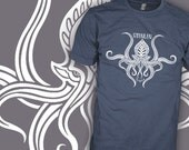 Call of Cthulhu Shirt - Tribal v1 - HP Lovecraft Author - Dunwich Horror Movie T-Shirt - FREE SHIPPING