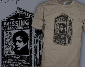 Syd Barrett Shirt - Pink Floyd Band Shirt - Missing Milk Carton - Psychedelic Rock T-Shirt