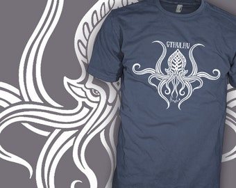 Call of Cthulhu Shirt - Tribal v1 - HP Lovecraft Author - Dunwich Horror Movie T-Shirt