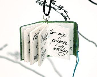 William Shakespeare Sonnet 20 Poetry Book Pendant
