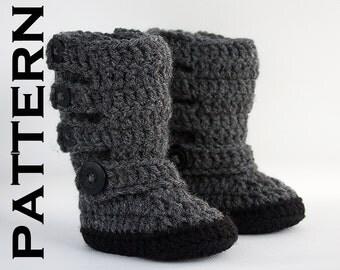Baby Moto Boot Crochet Pattern - PDF