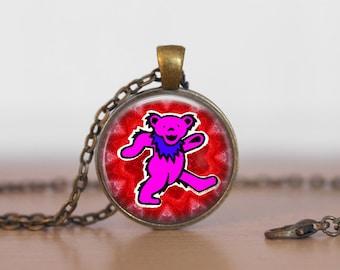 The Grateful Dead  Bear Jewelry Pendant