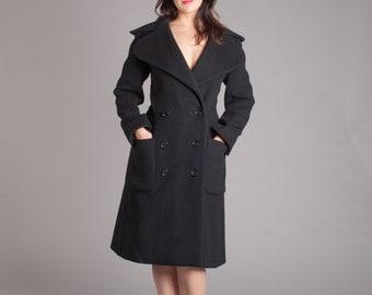 Vintage 1950s Princess Coat - 50s Tailored Wool Coat - Nan Duskin Coat