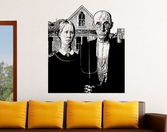 Vinyl Wall Decal Sticker American Gothic 5396s