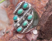 Signed Turquoise Sterling Silver Ring