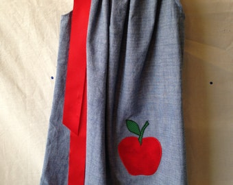 An Apple a Day - Girls Dress - Size 6 - READY TO SHIP
