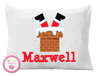 Christmas Personalized Pillowcase  , Santa Pillowcase , Christmas Bedding
