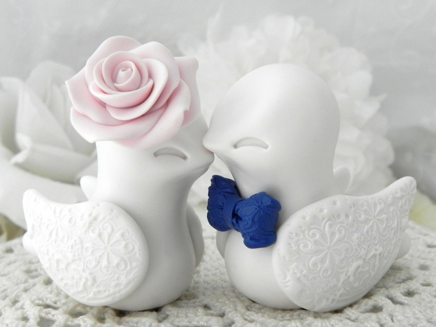 blue love birds wedding cake topper birds wedding cake topper white blush pink navy blue 11994