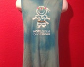 Hope NINJA, Cancer Kicker,  Upcycled mens tank