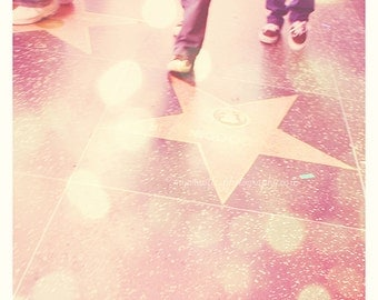 Hollywood photography, Los Angeles photograph, Walk of Fame star photo, Hollywood artwork, California wall art, pink decor, LA photography