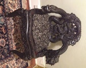Reserved for Shannon...Antique 1880s Intricately Carved Chinese Dragon Chair w/ Fitted Silk Cushion
