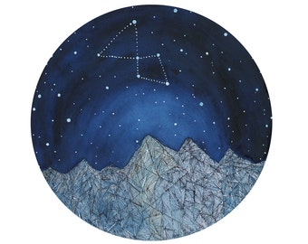 Constellation Art, Fine Art Print-Lyra Constellation