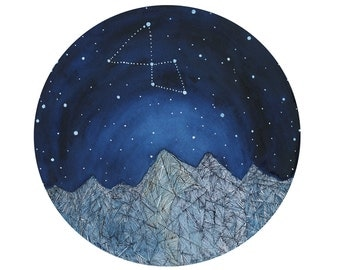 Constellation Art // Fine Art Print // Lyra Constellation // Nursery Art