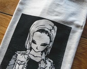 Dragonball Z Inspired Android 18 Screenprinted T-Shirt