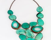 CUSTOM ORDER for JENNI. Turquoise Necklace. Aqua Necklace. Turquoise Statement Necklace. Blue Necklace. Ethical Jewelry. Sela Designs