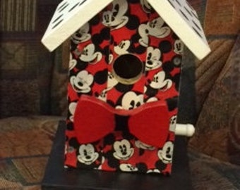Mickey Mouse Duck Tape Birdhouse BUILT TO ORDER