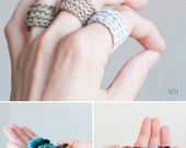 Crochet ring. Bridesmaid gift. Gifts for Bachelorette Party. Choose your color.  Lightweight and adaptable to the finger.