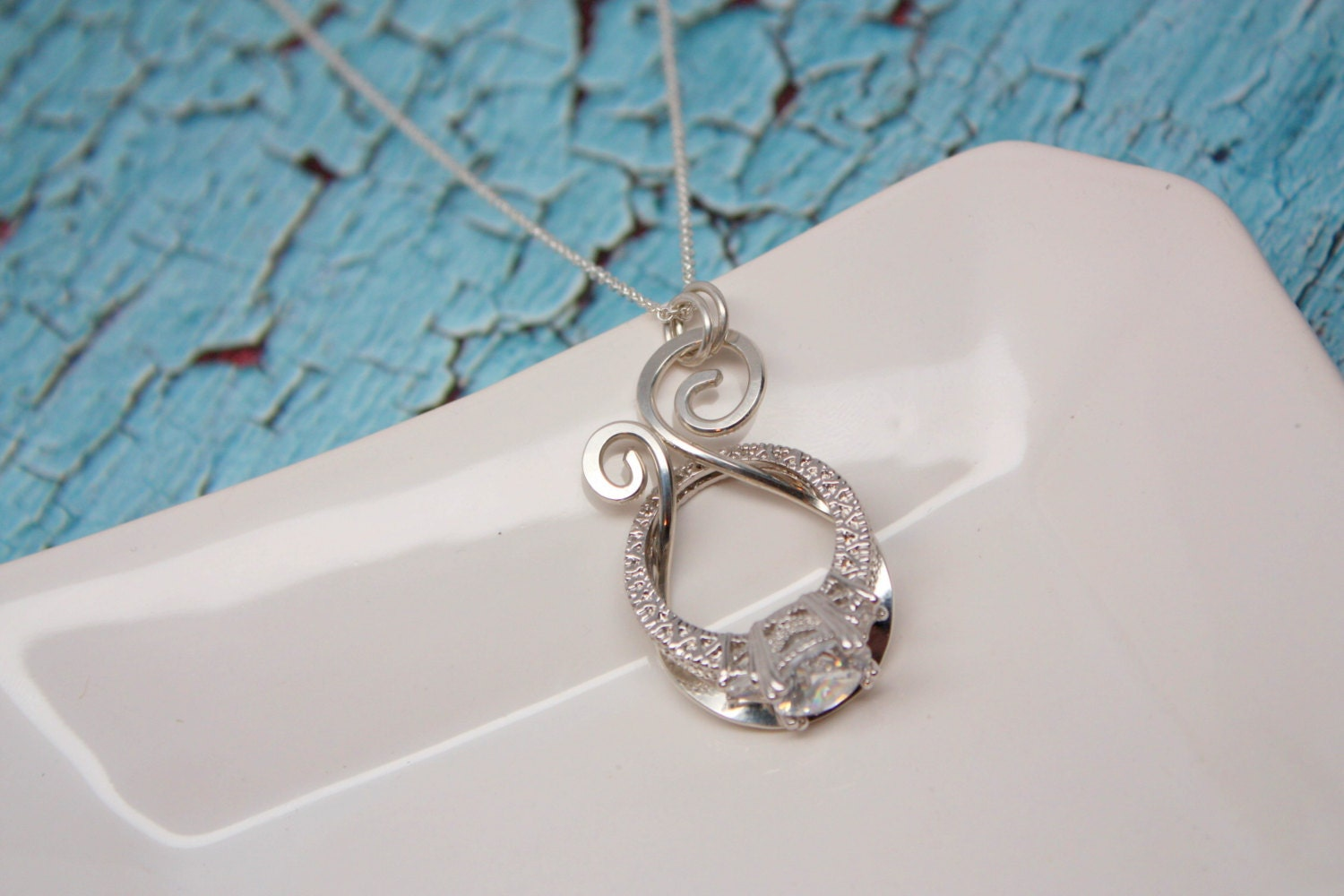 Magic ring holder necklace wedding engagement ring by for Wedding ring necklace