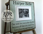 Baby, Baby Girl, Baby Boy, Baby Frame, Personalized Baby Frame, Baby Gift, Baptism Gift, Christening Gift, 16x16 YOUR SAILS Are SET