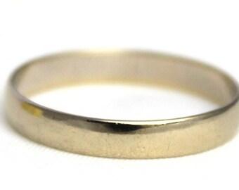 Vintage 18k Solid Gold Wedding Band Ring 18ct 18kt 750 Carat - Size P / 7.75
