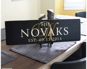 Personalized Family Name Sign Plaque Custom Wood: The Sophisticate