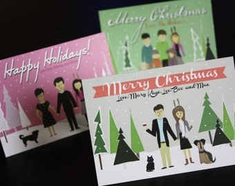 Custom Illustrated Christmas Cards