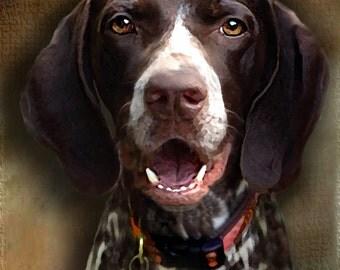 Custom Dog Portrait//11 x 14//Framed Pet Portrait//Personalized Portrait//Original Painting//Christmas Gift