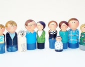 Personalized Peg Family Custom Family- Made to Order