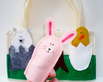 Finger Puppet Bag Baby Farm Animals