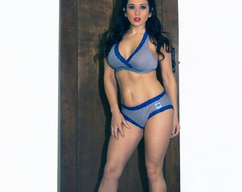 Bamboo Bra and Panty Set with Nursing Bra and hipster underwear.
