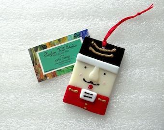Nutcracker Ornament - Fused Glass
