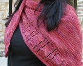 KNITTING PATTERN PDF file for Shawl-sock yarn weight-Zested