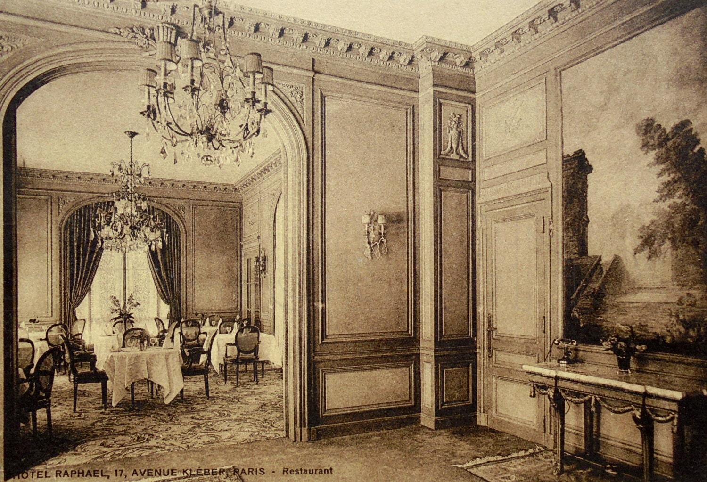 unused vintage postcard hotel raphael paris france. Black Bedroom Furniture Sets. Home Design Ideas