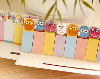 Owl Sticky Post It Memo Note Pad 120sheets SS319