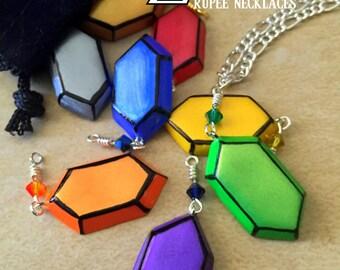 Rupee Necklace - Choose Your Color - Legend of Zelda - Nintendo