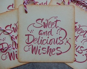 Sweet and Delicious Wishes - Gift/Hang Tags (6)