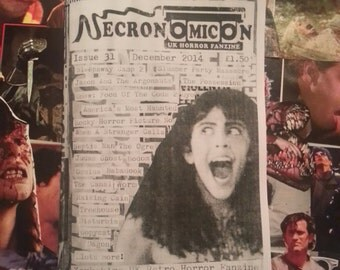 NECRONOMICON #31 UK horror fanzine zine retro movies cheesy cult films December 2014
