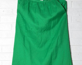 Kelly Green Pencil Skirt Vintage 50's