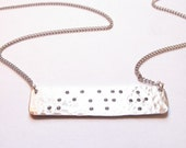Silver Custom Braille Inspired Necklace // Word/Phrase Choice // Engraved Necklace // Hand-Stamped Necklace // Braille Necklace // Name